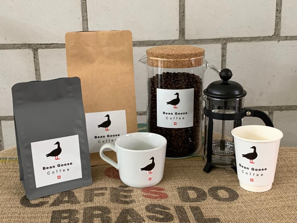 Bean Goose Coffee emarket stand
