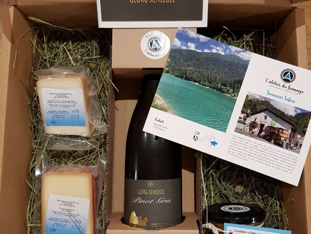 Swiss cheese subscription, apèro box: L'Atelier du Fromage
