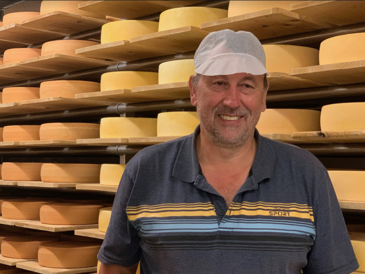 Visiting a swiss cheese maker for our swiss artisanal cheese club