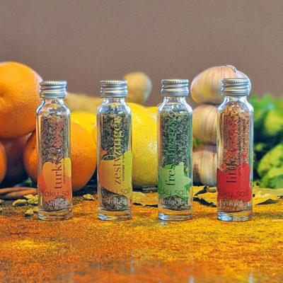 Flavoured flaky salts set - smiqql